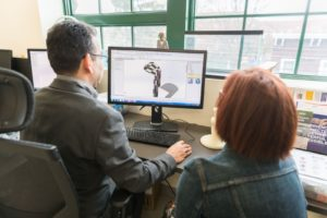 Prototyping using a CAD program at SUNY Haverstraw's 3D Print Lab