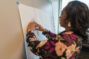 Lisa Anderson, a pattern maker at The Accelerator, uses Tukatech pattern making software at its fashion incubator in the Hudson Valley