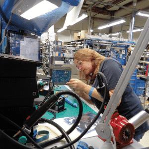 Nurturing a workforce in the Hudson Valley: Elaine Burns an apprentice at Sono-Tek participates in the New York State Apprenticeship program