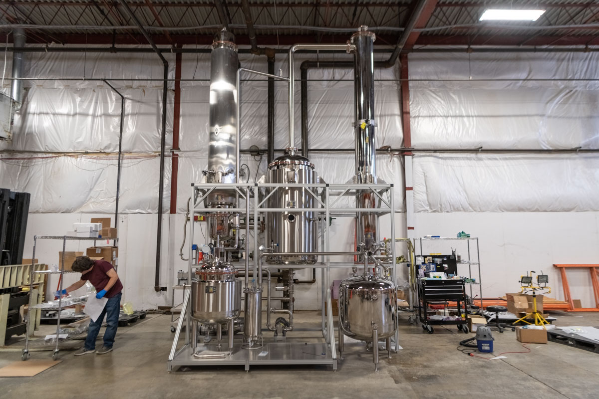 Ceres Technologies a Hudson Valley Advanced Manufacturer built this two-story hemp evaporator was built to handle the commercial industrial output of CBD oil