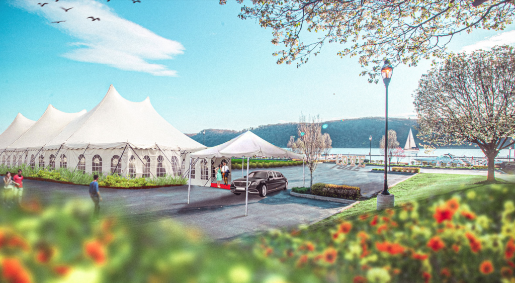 A rendering of the Bonura Hospitality Group's future wedding facility enhancements at their property in Poughkeepsie: The Riverside